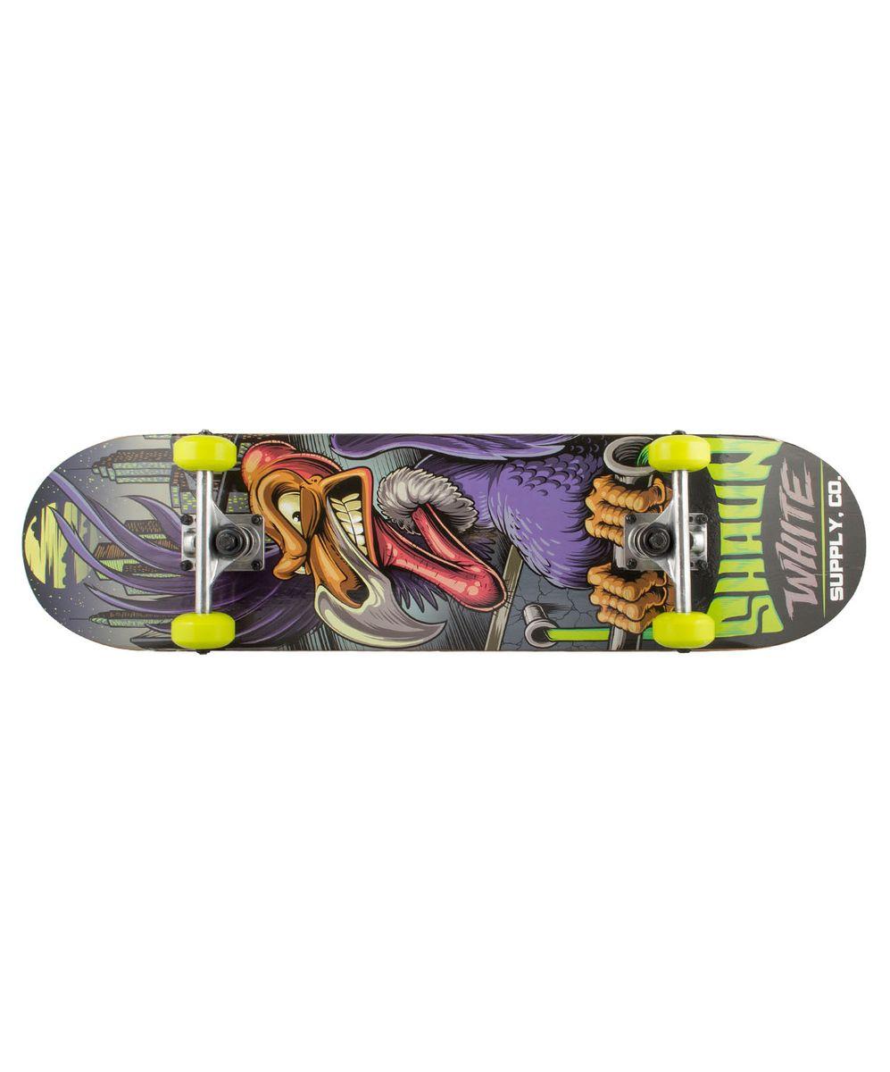 Скейтборд Shaun WHITE-5 Big Eye, 31,5Х8, ABEC-5УТ-00008237Скейтборд Big Eye, 31,5Х8- это скейтборд для подростков и взрослых, тех, кто продолжает осваивать или уверенно стоит на доске. На данной доске уже можно уверенно учиться трюкам, так как в конструкции скейта присутствует алюминиевая подвеска, стойкая к ударам и износу.Наличие подшипников ABEC 5 создает более комфортное движение самоката, чем у его предшественников с ABEC 3. Алюминиевая подвеска, ПВХ колеса, 31-ти дюймовая дека, индивидуальный дизайн.Технические характеристики:Дека:китайский клен, 9 слоевРазмер деки:31,5 дюймаМаксимальный вес пользователя, кг:100Подвеска:алюминийКолеса:PVCПодшипники:ABEC-5Производство:КНР