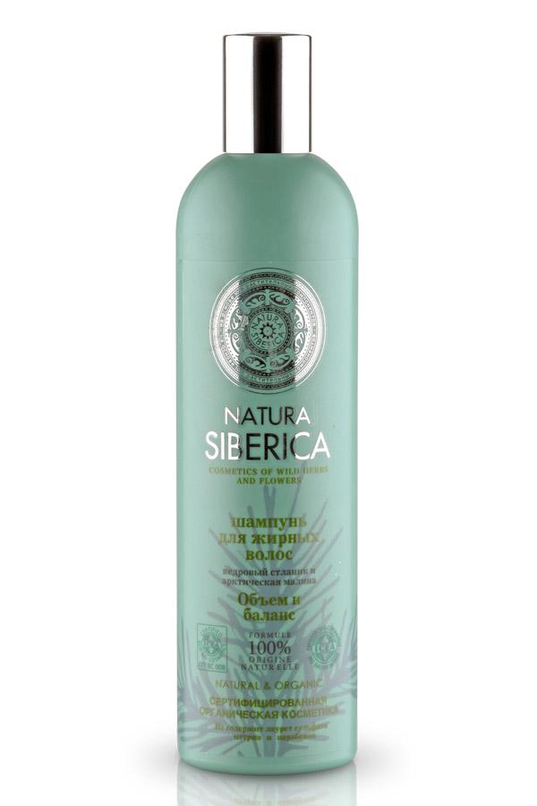 Шампунь Natura Siberica Объем и баланс, для жирных волос, 400 мл шампунь natura siberica шампунь облепиховый максимальный объем объем 400 мл