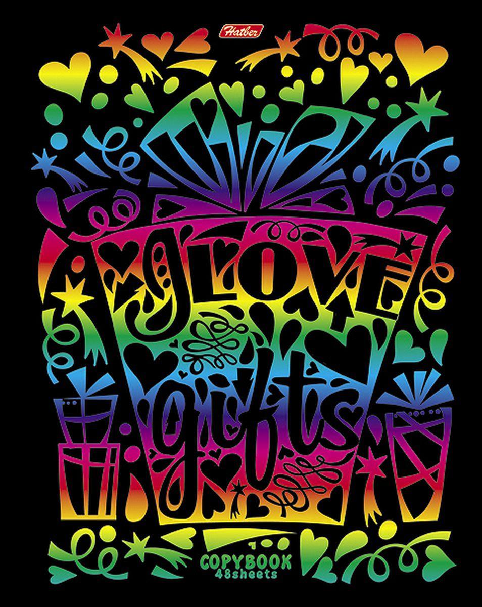 Hatber Тетрадь Калейдоскоп красок 48 листов в клетку 48Т5фВ148Т5фВ1Тетрадь Hatber Калейдоскоп красок отлично подойдет для занятий школьнику, студенту или для различных записей.Обложка, выполненная из плотного картона, украшена тиснением радужной фольгой. Игра разноцветных металлизированных переливов в сочетании с оригинальными узорами дарит тетрадке магический эффект.Внутренний блок тетради, соединенный металлическими скрепками, состоит из 48 листов белой бумаги в голубую клетку с полями.