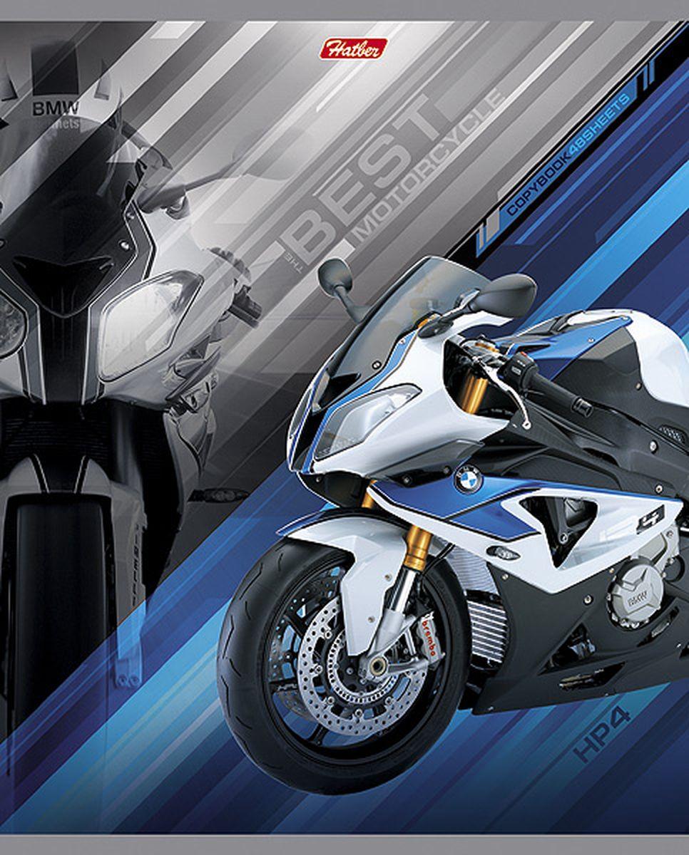 Hatber Тетрадь Спортивные мотоциклы 48 листов в клетку цвет синий48Т5вмВ1Тетрадь Hatber Спортивные мотоциклы отлично подойдет для занятий школьнику, студенту, а также для различных записей.Обложка, выполненная из плотного картона, позволит сохранить тетрадь в аккуратном состоянии на протяжении всего времени использования. Обложка украшена изображением мощного спортивного мотоцикла.Внутренний блок тетради, соединенный двумя металлическими скрепками, состоит из 48 листов белой бумаги. Стандартная линовка в клетку голубого цвета дополнена полями, совпадающими с лицевой и оборотной стороны листа. В верхнем углу каждой странички находится разделенное точками место для даты, в нижнем - пустые квадратики для номеров страниц.