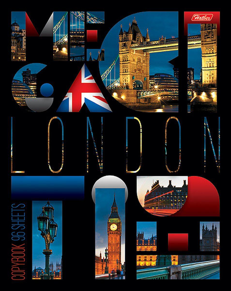 Hatber Тетрадь London 96 листов в клетку96Т5вмВ1Серия тетрадей Megacity - образец сверхпопулярной городской тематики, который претендует если не на статус вечной, то, как минимум, проверенной временем. Яркие фотографии самых известных городов мира смотрятся поистине красиво и пользуются огромной популярностью среди молодежи и заядлых путешественников.Тетрадь Hatber London подойдет школьнику, студенту или для различных записей.Обложка тетради выполнена из плотного картона, что позволит сохранить тетрадь в аккуратном состоянии на протяжении всего времени использования. Лицевая сторона тетради украшена фотографиями достопримечательностей Лондона.Внутренний блок тетради, соединенный двумя металлическими скрепками, состоит из 96 листов белой бумаги. Стандартная линовка в клетку голубого цвета дополнена полями.