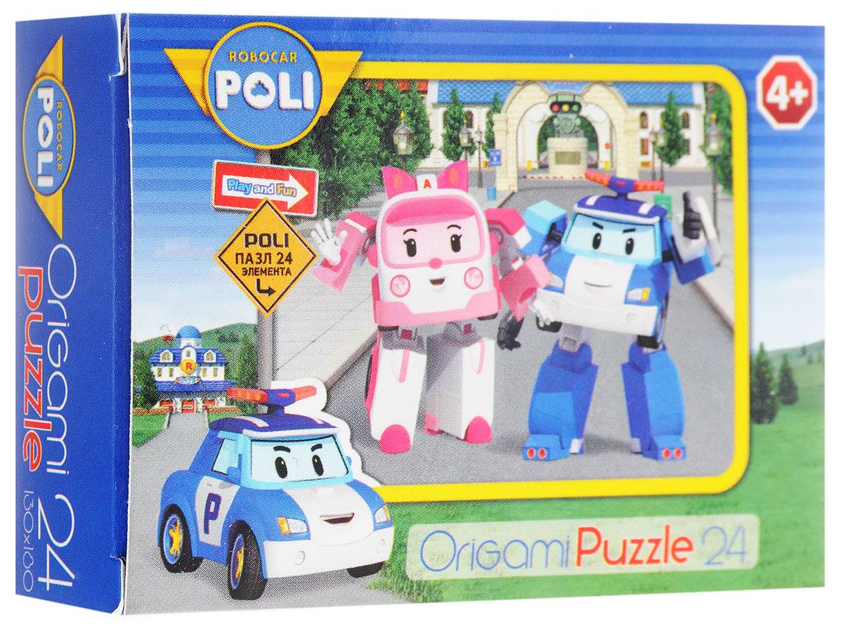 Оригами Мини-пазл Robocar Poli Полиция и скорая Оригами