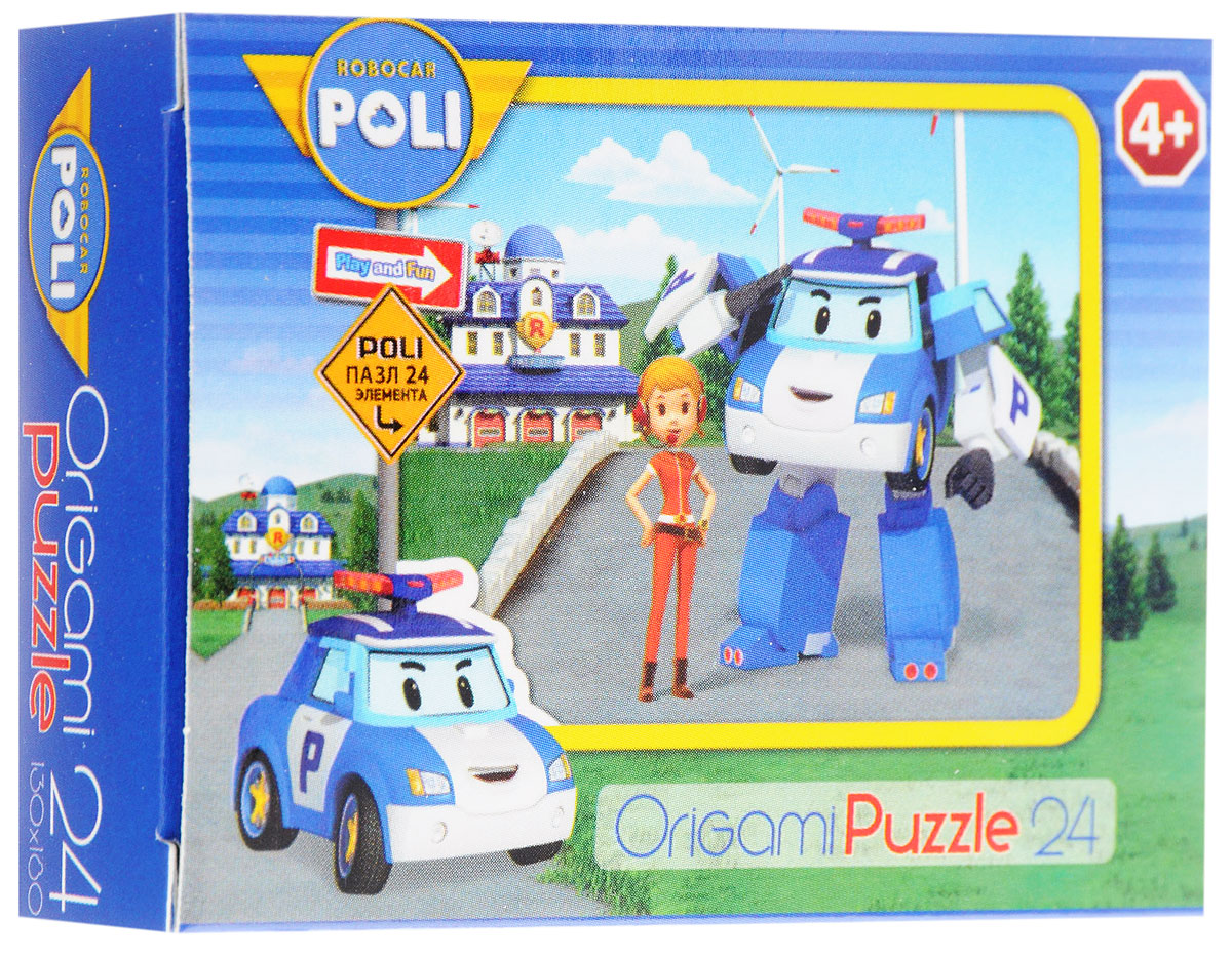 Оригами Мини-пазл Robocar Poli Полицейская машина и диспетчер