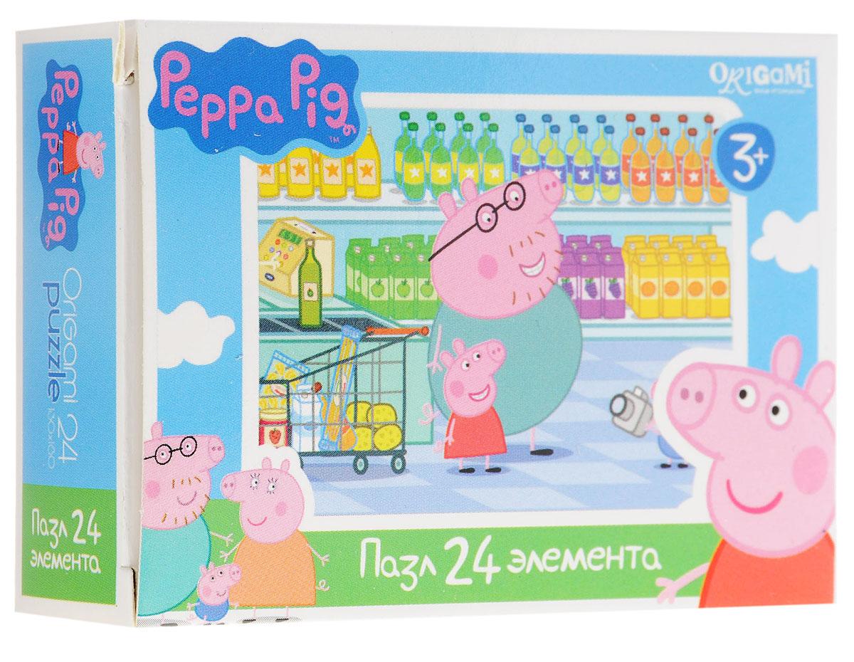 Оригами Мини-пазл Peppa Pig В магазине 01594 peppa pig пазл супер макси 24a контурный магниты подставки семья кроликов