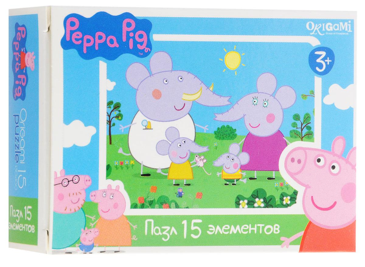 Оригами Мини-пазл Peppa Pig Слоны 01593 origami пазл peppa pig семья кроликов 24 детали