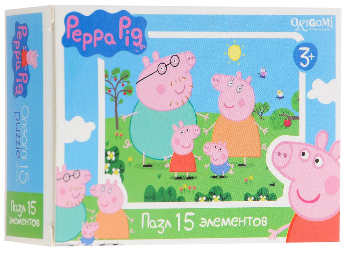 Оригами Мини-пазл Peppa Pig Свинки 01593 пазл origami peppa pig транспорт 4 в 1