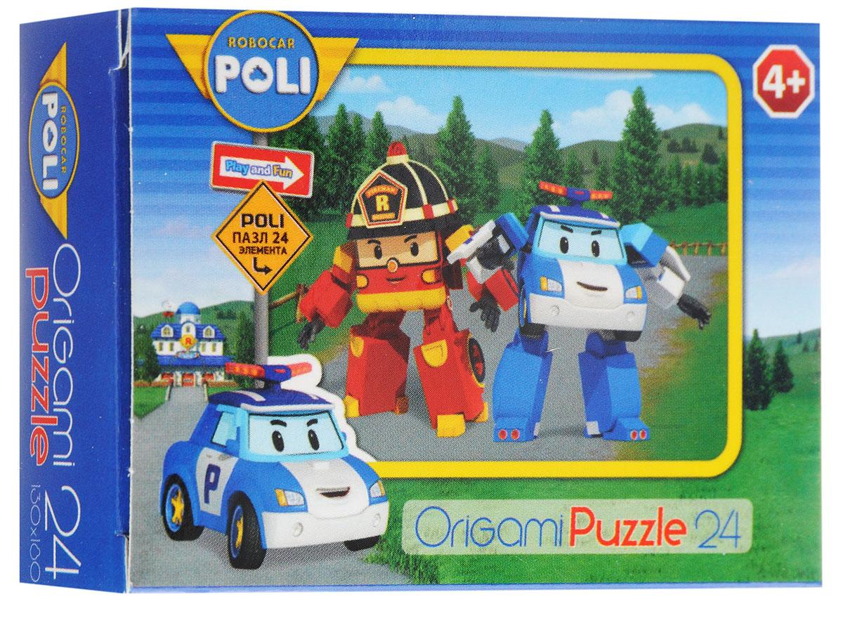 Оригами Мини-пазл Robocar Poli Полиция и пожарная Оригами
