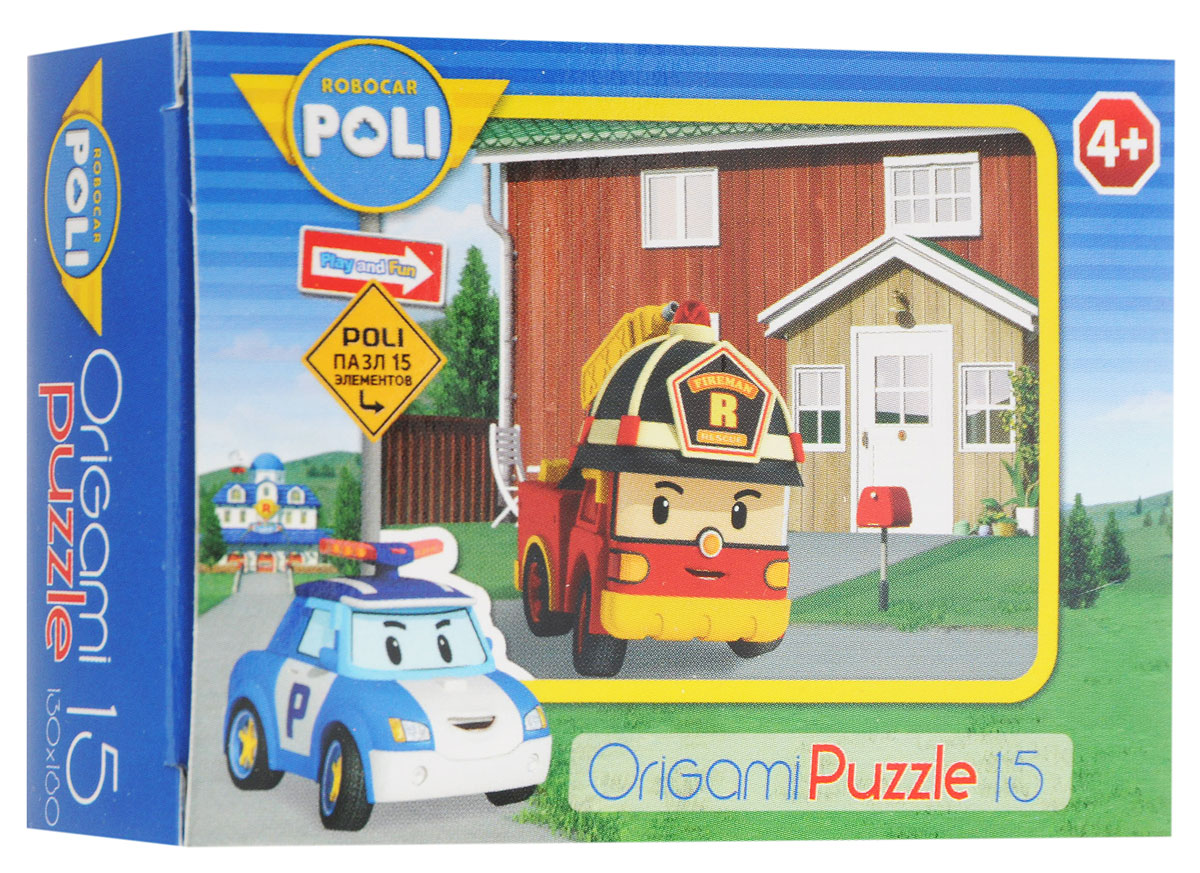 Оригами Мини-пазл Robocar Poli Пожарная машина 00176