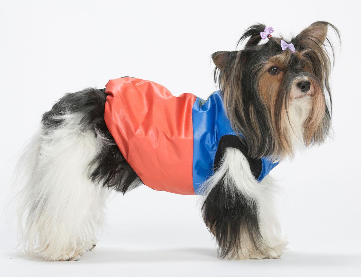 Жилет для собак Yoriki Домино, унисекс, цвет: синий, красный. Размер XL