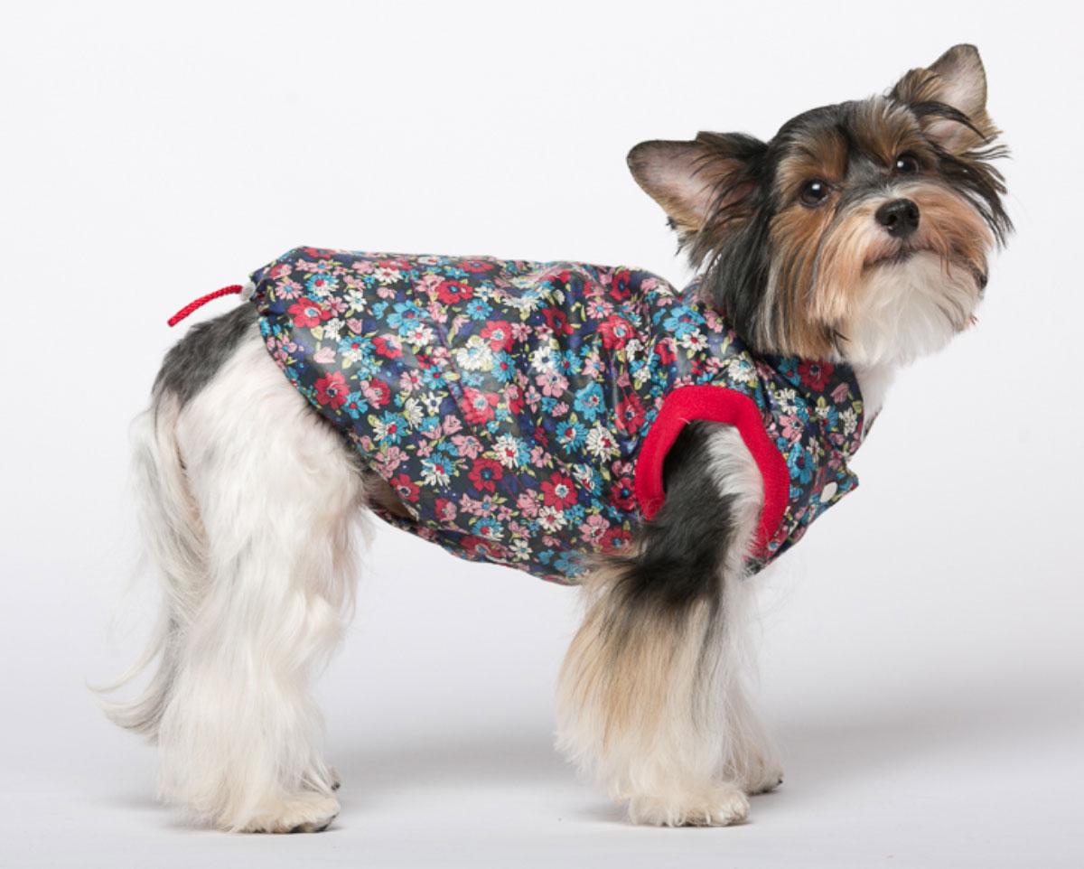 Жилет для собак Yoriki Цветы, унисекс, цвет: синий. Размер S