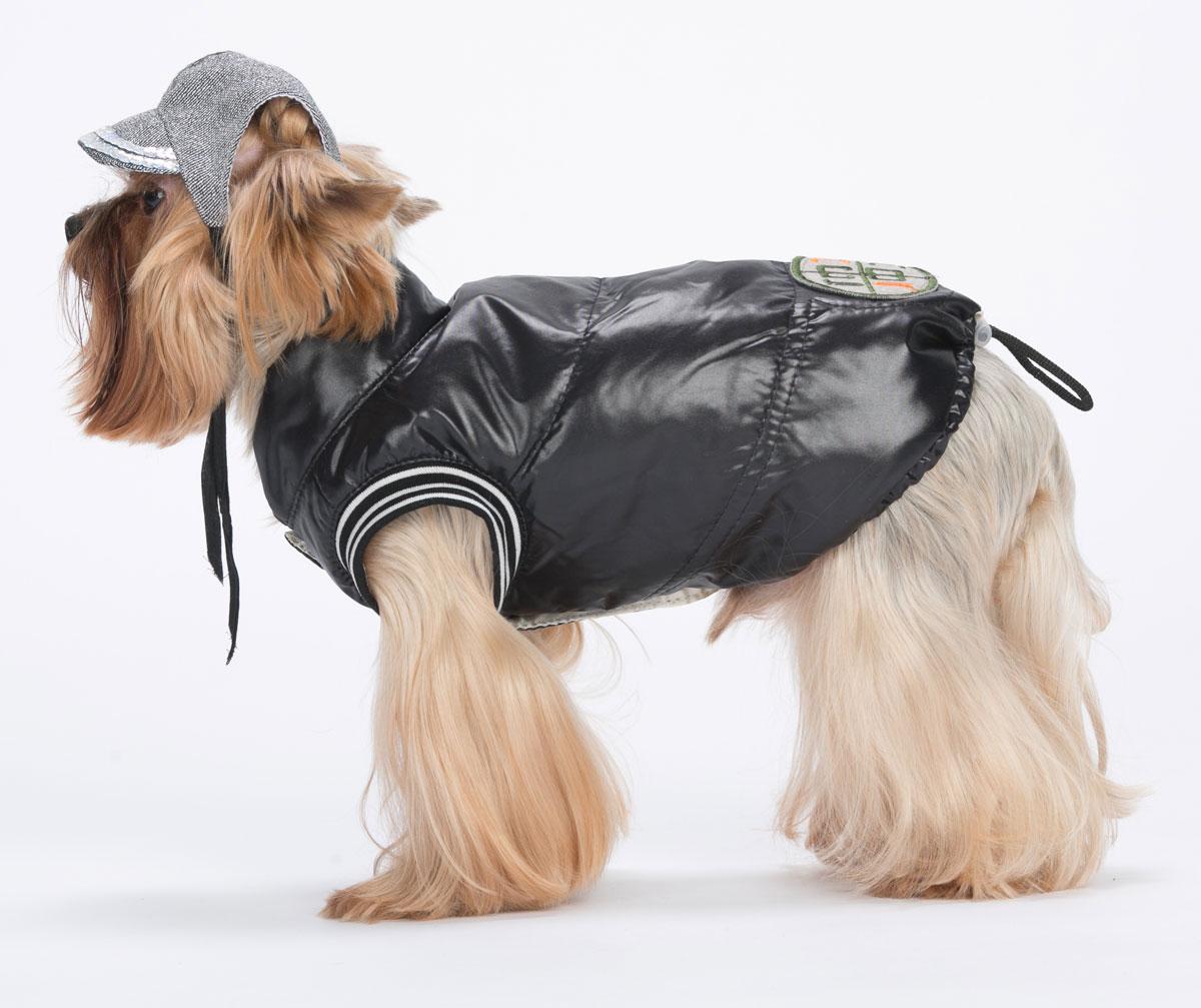 """Жилет для собак Yoriki """"Демисезонный"""", унисекс, цвет: черный. Размер M"""
