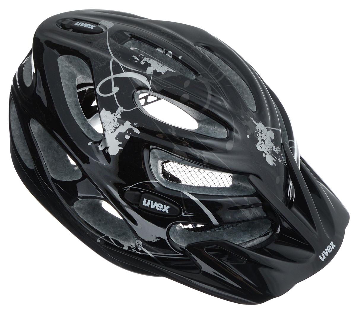 Шлем летний Uvex Onyx, цвет: черный, серебристый. Размер XXS-S4543.2515Шлем Uvex Onyx конструкции Inmould предназначен исключительно для езды на велосипеде и катания на роликовых коньках или скейтборде. Шлем снабжен универсальным внутренним настроечным кольцом, застежками на липучках, регулируемыми текстильными ремешками и вентиляционными отверстиями. Увеличенное количество вентиляционных отверстий гарантирует отличную циркуляцию воздуха на разных скоростях движения при сохранении жесткости. Подстежка изготовлена из пенополистирола. Ее роль заключается в рассеивании энергии при ударе, что защищает голову. Верхняя часть шлема, выполненная из прочного пластика, препятствует разрушению изделия, защищает шлем от прокола и позволять ему скользить при ударах. Способность шлема скользить по поверхности является важной его характеристикой, так как при падении движение уменьшается не сразу, а постепенно, снижая тем самым нагрузку на голову и шею. Надежный шлем с ярким дизайном обеспечит высокую степень защиты вашего ребенка. А 17 вентиляционных отверстий сделают катание максимально комфортным.