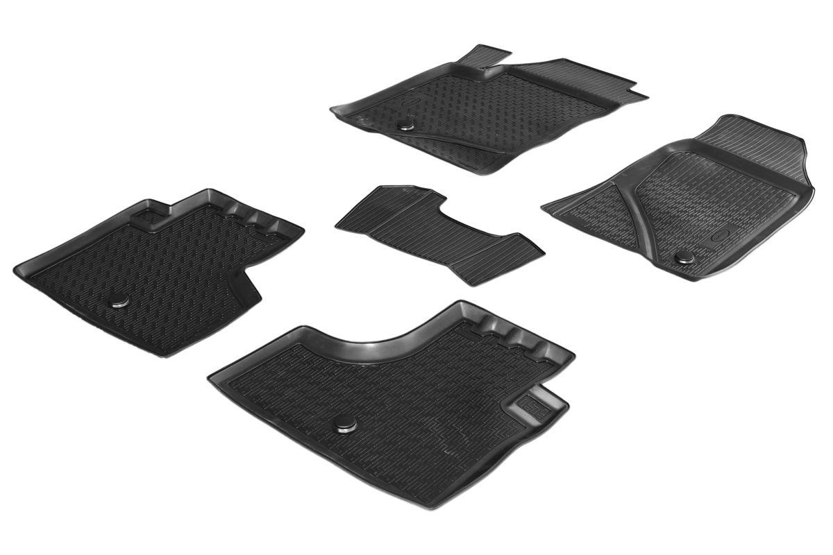 Коврики салона Rival для Chevrolet Niva 2012-, c перемычкой, полиуретан11004001Прочные и долговечные коврики Rival в салон автомобиля, изготовлены из высококачественного и экологичного сырья, полностью повторяют геометрию салона вашего автомобиля.- Надежная система крепления, позволяющая закрепить коврик на штатные элементы фиксации, в результате чего отсутствует эффект скольжения по салону автомобиля.- Высокая стойкость поверхности к стиранию.- Специализированный рисунок и высокий борт, препятствующие распространению грязи и жидкости по поверхности коврика.- Перемычка задних ковриков в комплекте предотвращает загрязнение тоннеля карданного вала.- Произведены из первичных материалов, в результате чего отсутствует неприятный запах в салоне автомобиля.- Высокая эластичность, можно беспрепятственно эксплуатировать при температуре от -45 ?C до +45 ?C.Уважаемые клиенты!Обращаем ваше внимание,что коврики имеет формусоответствующую модели данного автомобиля. Фото служит для визуального восприятия товара.
