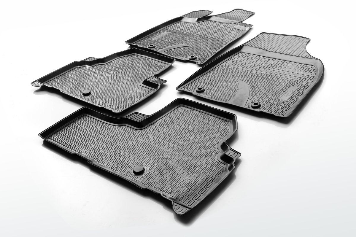 Коврики салона Rival для Lexus RX 2012-2015, полиуретан13201001Прочные и долговечные коврики Rival в салон автомобиля, изготовлены из высококачественного и экологичного сырья, полностью повторяют геометрию салона вашего автомобиля.- Надежная система крепления, позволяющая закрепить коврик на штатные элементы фиксации, в результате чего отсутствует эффект скольжения по салону автомобиля.- Высокая стойкость поверхности к стиранию.- Специализированный рисунок и высокий борт, препятствующие распространению грязи и жидкости по поверхности коврика.- Перемычка задних ковриков в комплекте предотвращает загрязнение тоннеля карданного вала.- Произведены из первичных материалов, в результате чего отсутствует неприятный запах в салоне автомобиля.- Высокая эластичность, можно беспрепятственно эксплуатировать при температуре от -45 ?C до +45 ?C.Уважаемые клиенты!Обращаем ваше внимание,что коврики имеет формусоответствующую модели данного автомобиля. Фото служит для визуального восприятия товара.