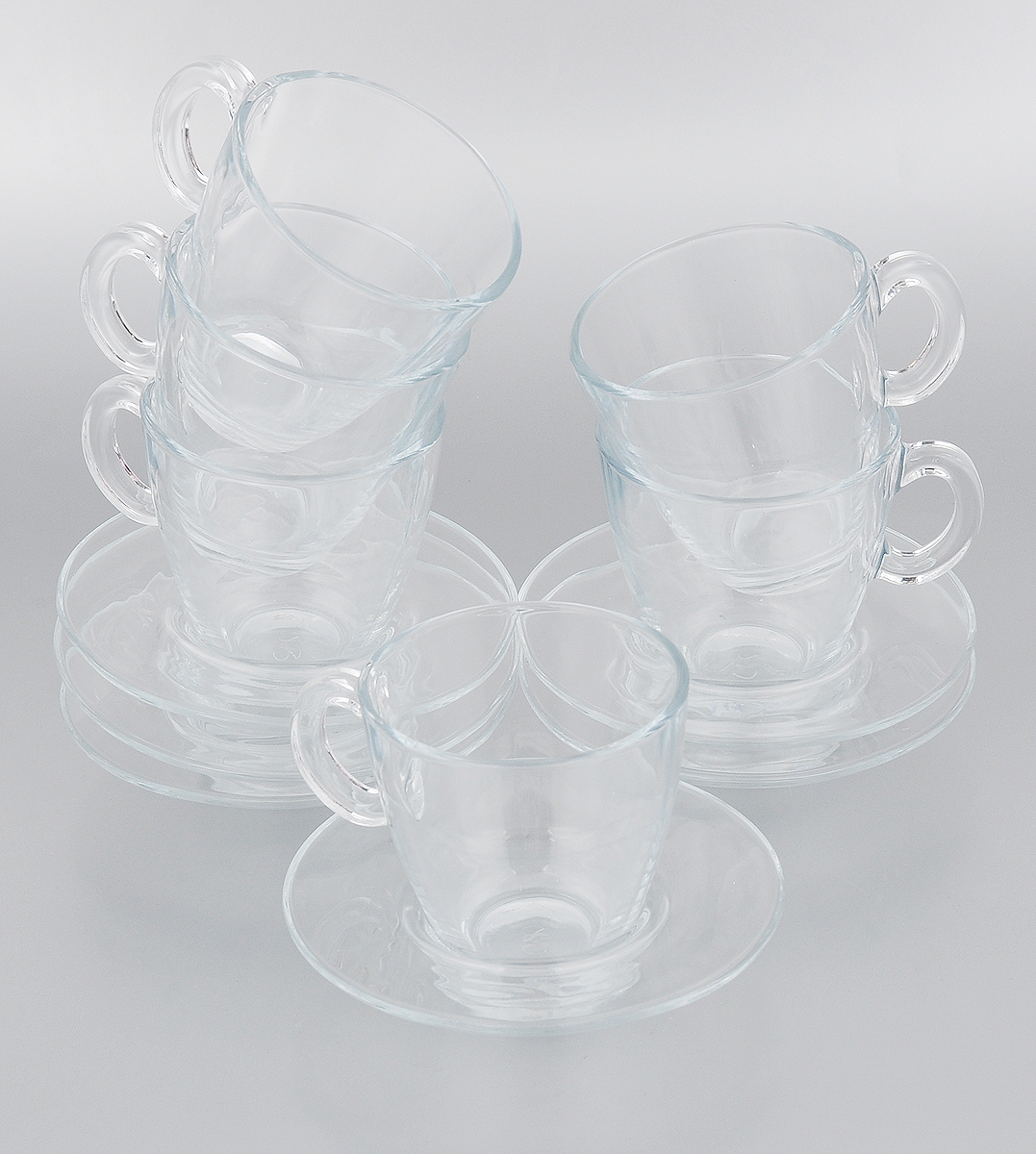 Набор чайный Pasabahce Aqua, 12 предметов95040BTЧайный набор Pasabahce Aqua состоит из шести чашек ишести блюдец. Предметы набора изготовлены из прочногонатрий-кальций-силикатного стекла.Изящный чайный набор великолепно украсит стол к чаепитиюи порадует вас и ваших гостей ярким дизайном и качествомисполнения. Можно использовать в микроволновой печи, в холодильнике имыть в посудомоечной машине.Диаметр чашки по верхнему краю: 8 см. Высота чашки: 8 см. Объем чашки: 215 мл. Диаметр блюдца: 13 см. Высота блюдца: 2,5 см.