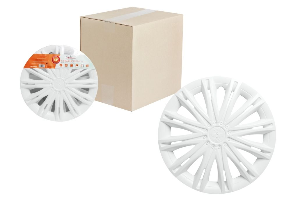 Колпаки колесные Airline Скай, цвет: белый, 14, 2 шт. AWCC-14-12 оригинальные колесные диски на автомобиль бриллиансе