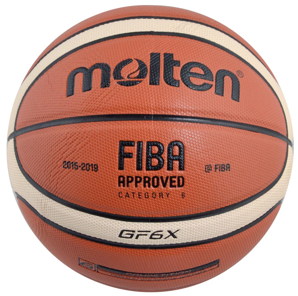 Мяч баскетбольный Molten, цвет: терракотовый. Размер 6BGF6XБаскетбольный мяч Molten отлично подходит для соревнований и тренировок профессионального уровня, обладает высокой прочностью, износостойкостью и игровыми характеристиками. Изготовлен из высококлассного композитного материала и натуральной кожи. Шероховатая поверхность. 12-панельный дизайн. Предназначен для игры в зале. Одобрен FIBA.