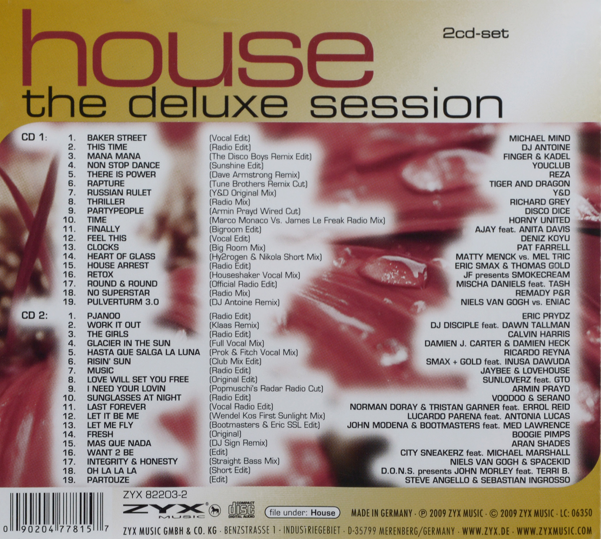 House.  The Deluxe Session (2 CD) Волтэкс-инвест,ZYX Music