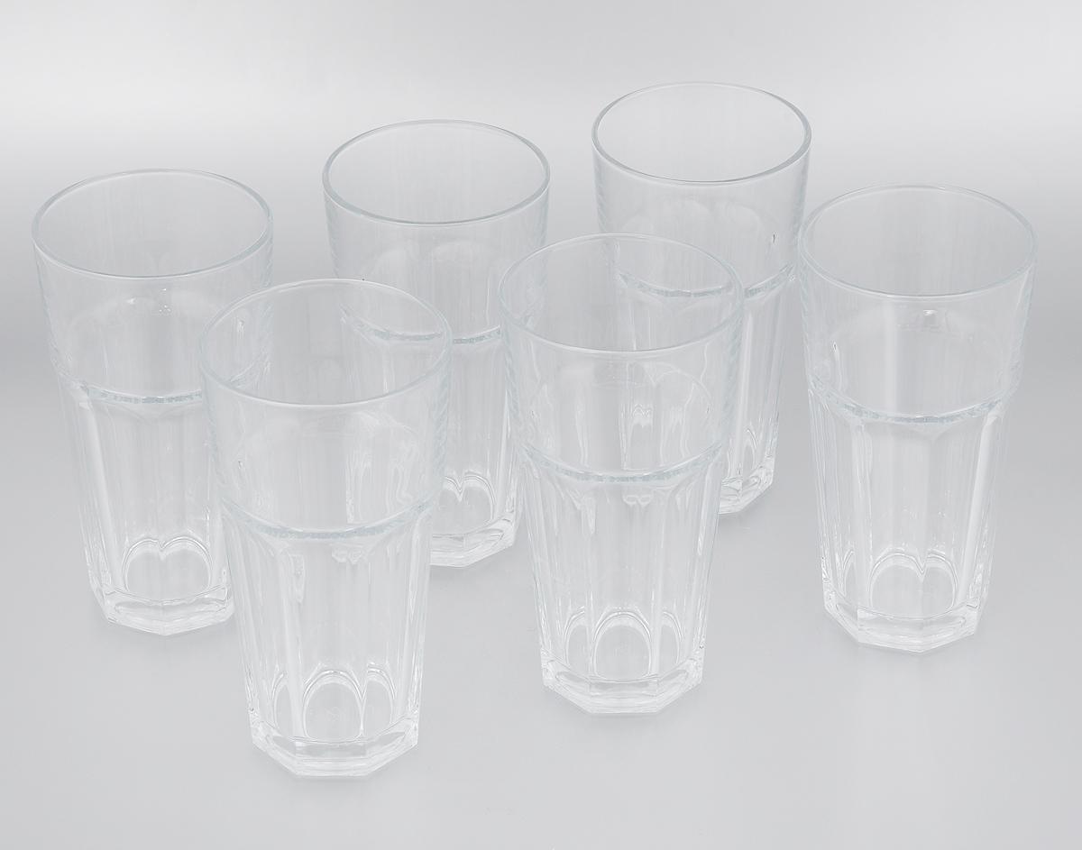 """Набор Pasabahce """"Casablanca"""" состоит из шести стаканов, изготовленных из прочного натрий-кальций-силикатного стекла. Изделия предназначены для подачи пива и других напитков. Стаканы, оснащенные рельефной многогранной поверхностью, сочетают в себе элегантный дизайн и функциональность. Набор стаканов Pasabahce """"Casablanca"""" идеально подойдет для сервировки стола и станет отличным подарком к любому празднику.Можно мыть в посудомоечной машине, а также использовать в микроволновой печи, холодильнике и морозильной камере.Диаметр стакана по верхнему краю: 9 см. Высота стакана: 17,5 см."""