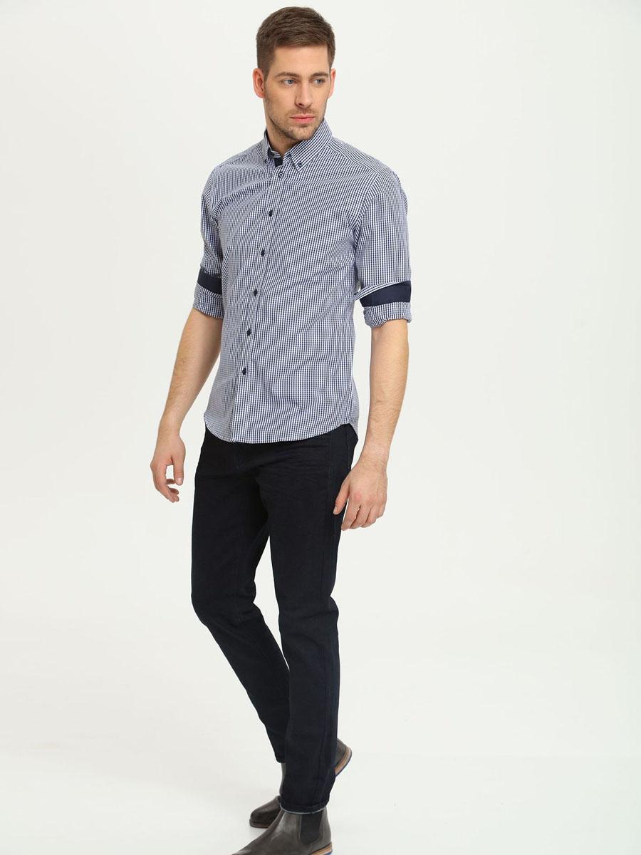 Брюки мужские Top Secret, цвет: темно-синий. SSP2142GR. Размер 33 (48/50)SSP2142GRСтильные мужские брюки, выполненные из натурального хлопка, отлично дополнят ваш гардероб. Модель застегивается на пуговицу в поясе и ширинку на молнии, имеются шлевки для ремня. Спереди брюки дополнены двумя врезными карманами, а сзади двумя накладными карманами.