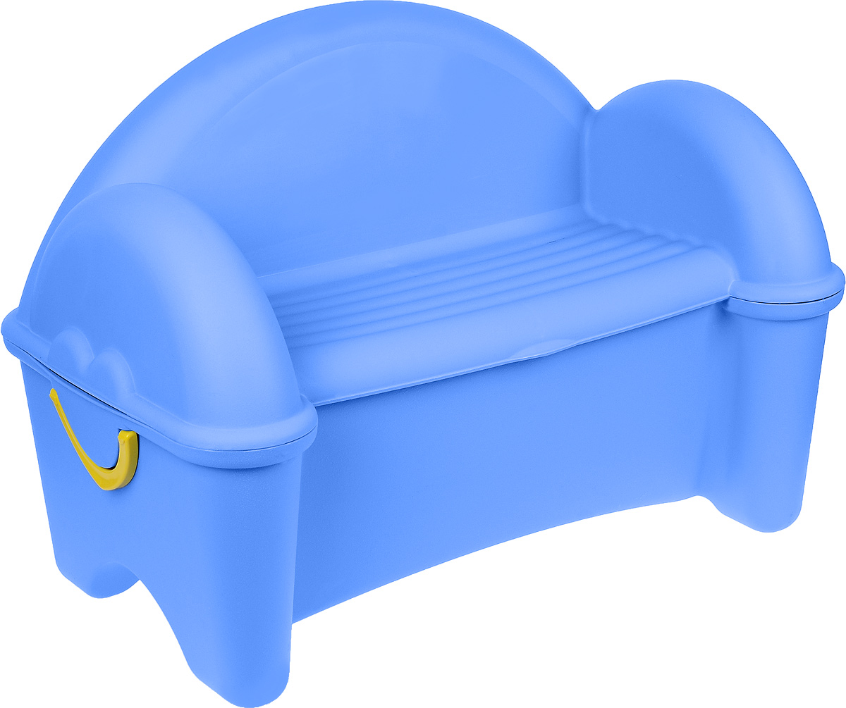 PalPlay Диван-ящик цвет голубой379_голубойДиван-ящик PalPlay непременно пригодится в детской комнате. Стильный диван голубого цвета, выполненный из высококачественного материала, станет удобным и оригинальным дизайнерским элементом. А в разложенном виде превратится во вместительный ящик для игрушек. Диван-ящик легко открывается и раскладывается. Диван снабжен удобными пластиковыми ручками для транспортировки. Уход за мебелью упрощается за счет гладкой пластиковой поверхности.Предназначен для детей от двух лет.