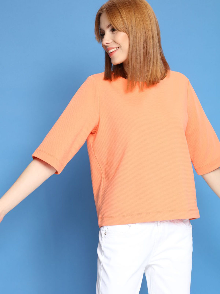 Джемпер женский Top Secret, цвет: оранжевый. SBL0437PO[E]. Размер 34 (40) жакет женский top secret цвет черный золотистый szk0518ca размер 40 46