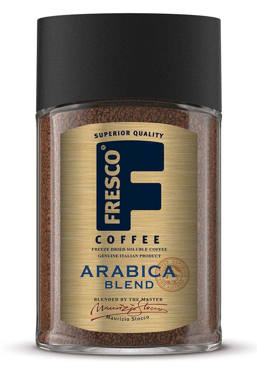 Fresco Arabica Blend кофе растворимый, 100 г8051070320538Fresco Arabica Blend – авторский купаж из трех особых сортов арабики: Катурра, Катуаи и Типика, выращенных в Колумбии. Он обладает тонко сбалансированным насыщенным вкусом с нотками цитрусовых. Напиток для утра и целого дня.