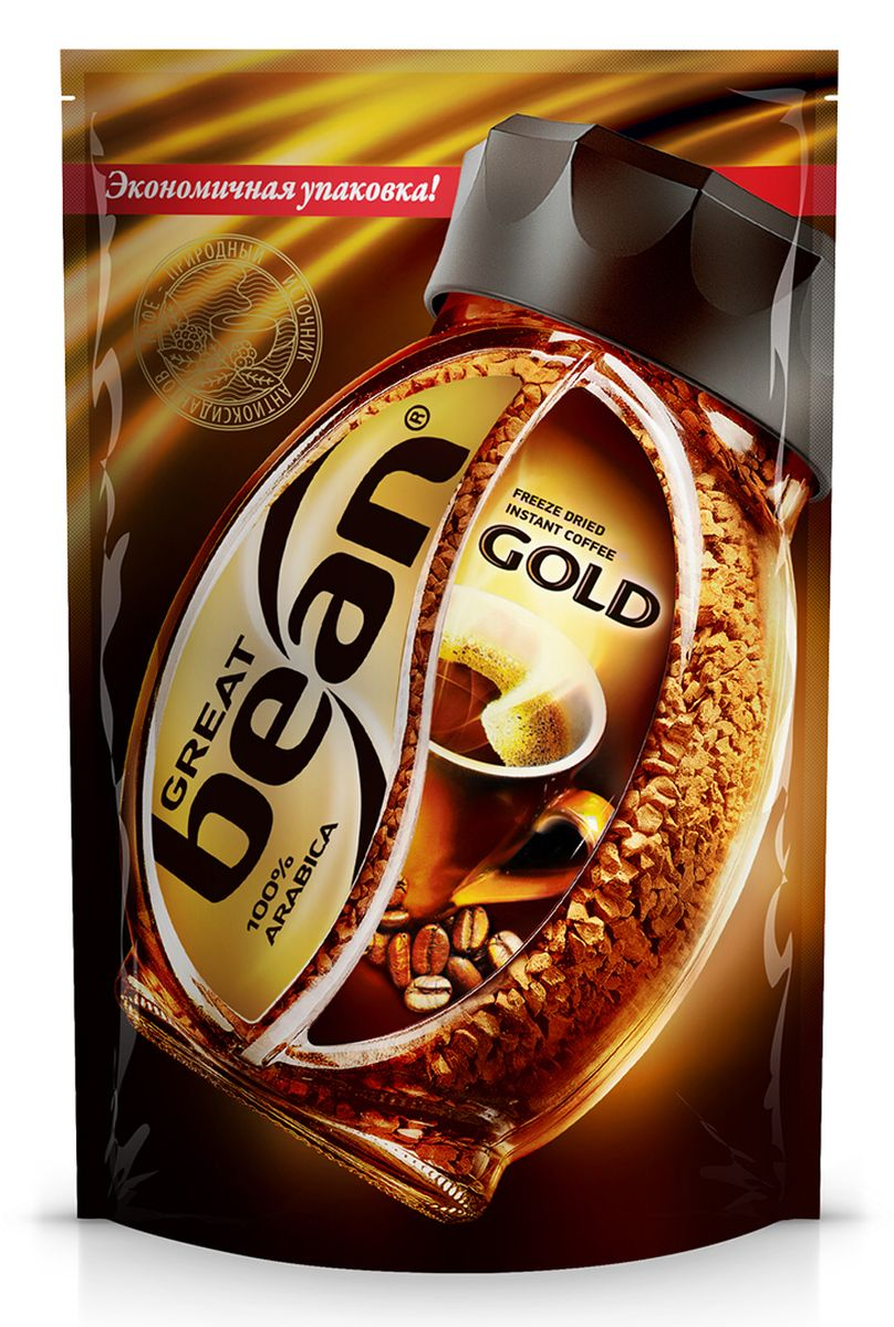 Great Bean Gold кофе растворимый, 75 г