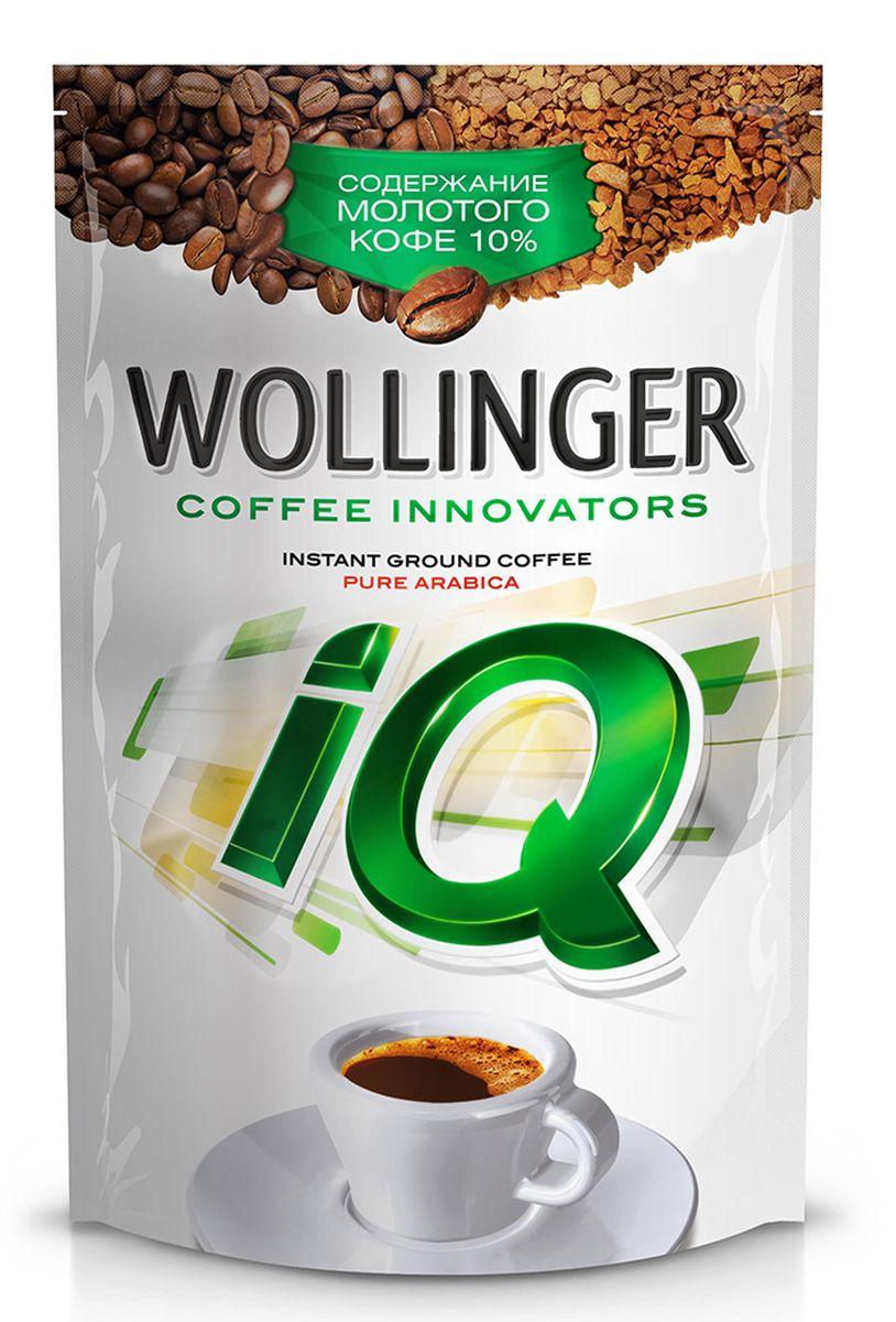 Wollinger IQ кофе растворимый с добавлением молотого, 150 г4630007984735Wollinger - кофе высшего качества Arabica Brazil Bourbon с добавлением молотого жареного кофе Arabica Santos произведен по уникальной технологии, при которой молотый кофе становится неотъемлемой частью каждого кристалла. Насыщенный плотный вкус и неповторимый стойкий аромат свежезаваренного кофе - уникальные особенности Wollinger IQ.