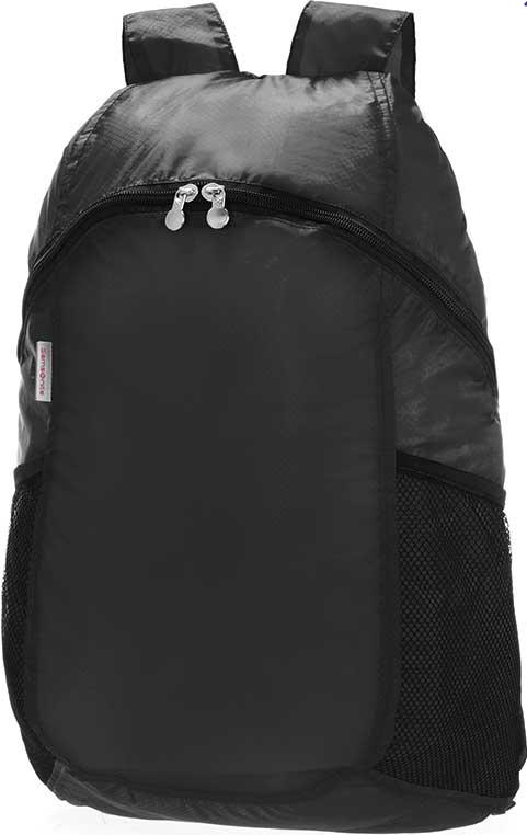 Рюкзак городской Samsonite, складной, 15 лU23-09605Складной городской рюкзак Samsonite выполнен из высококачественного прочного нейлона.Изделие содержит одно вместительное отделение, закрывающееся на застежку-молнию. Внутри отделение дополнено объемным карманом на молнии, в который легко складывается сам рюкзак. По бокам рюкзака предусмотрены сетчатые карманы. Изделие оснащено двумя практичными лямкамирегулируемой длины. Практичный рюкзак, благодаря своей универсальности, станет незаменимым аксессуаром для повседневного использования.