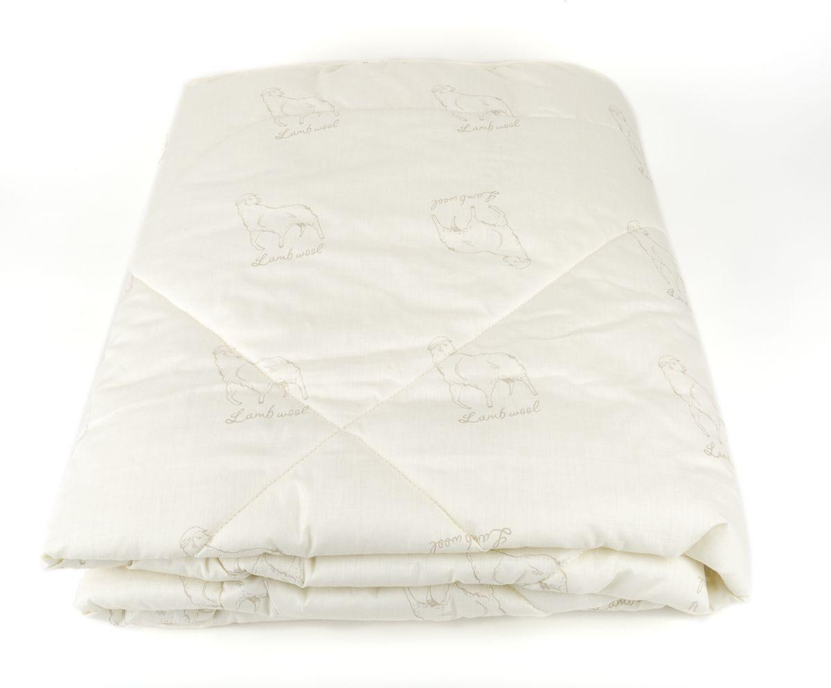 Одеяло Classic by T Меринос-натурэль, наполнитель: шерсть, полиэфир, цвет: экрю, 175 х 200 см одеяло classic by t верблюжья шерсть