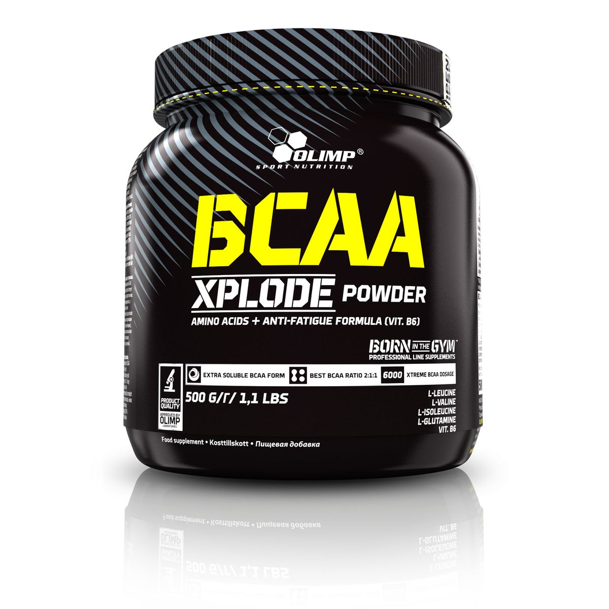 Аминокислотный комплекс Olimp Sport Nutrition BCAA Xplode Powder, лимон, 500 г креатин olimp creatine xplode ананас 500 г