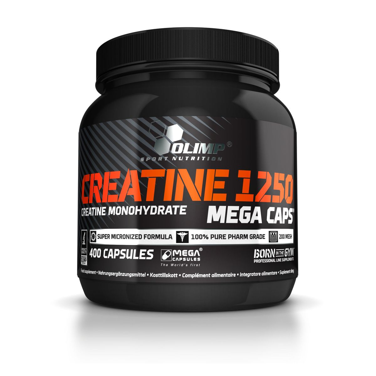 Креатин Olimp Sport Nutrition Mega Caps, 400 капсул креатин моногидрат sport technology nutrition creatine 300 г