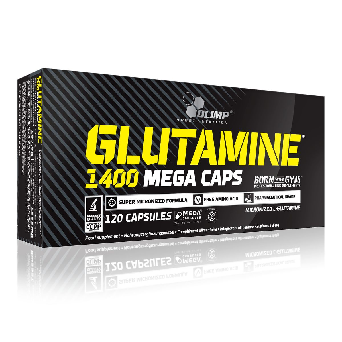 Глютамин Olimp Sport Nutrition Glutamine Mega Caps 1400, 120 капсул ultra mens sport multivitamin formula как принимать
