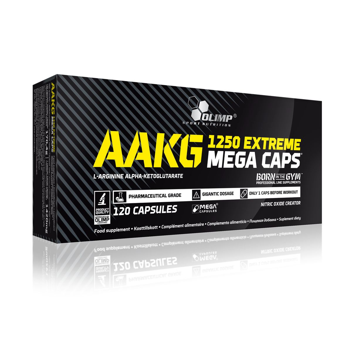 Аминокислотный комплекс Olimp Sport Nutrition ААКГ Mega Caps 1250, 120 капсул аминокислотный комплекс olimp sport nutrition bcaa mega caps 1100 120 капсул