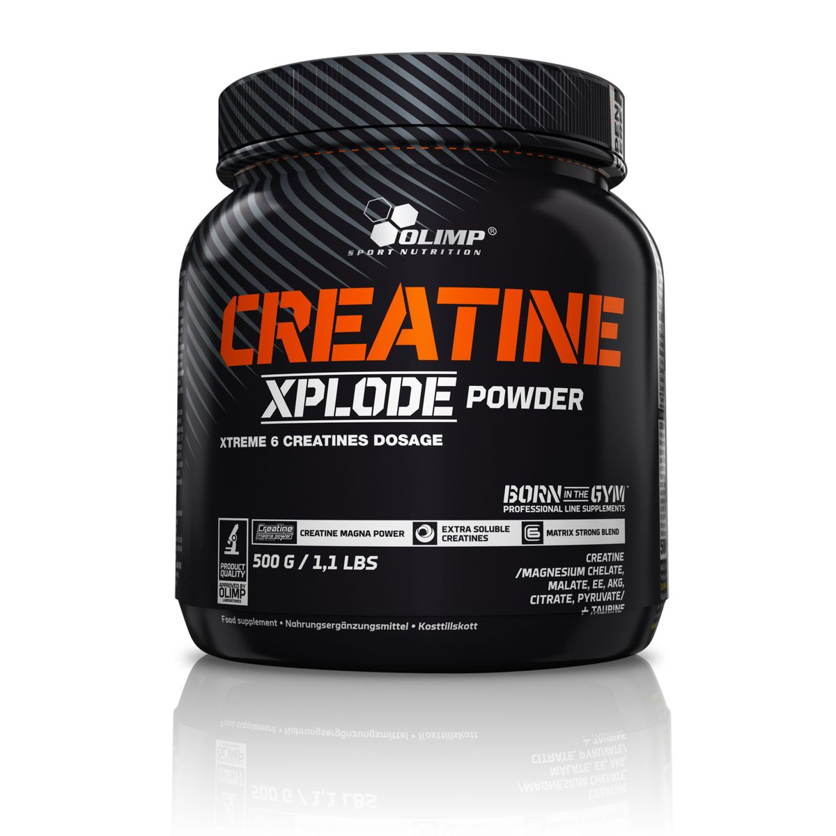 Креатин Olimp Sport Nutrition Creatine Xplode Powder, апельсин, 500 г протеин olimp sport nutrition provit 80 ваниль 700 г