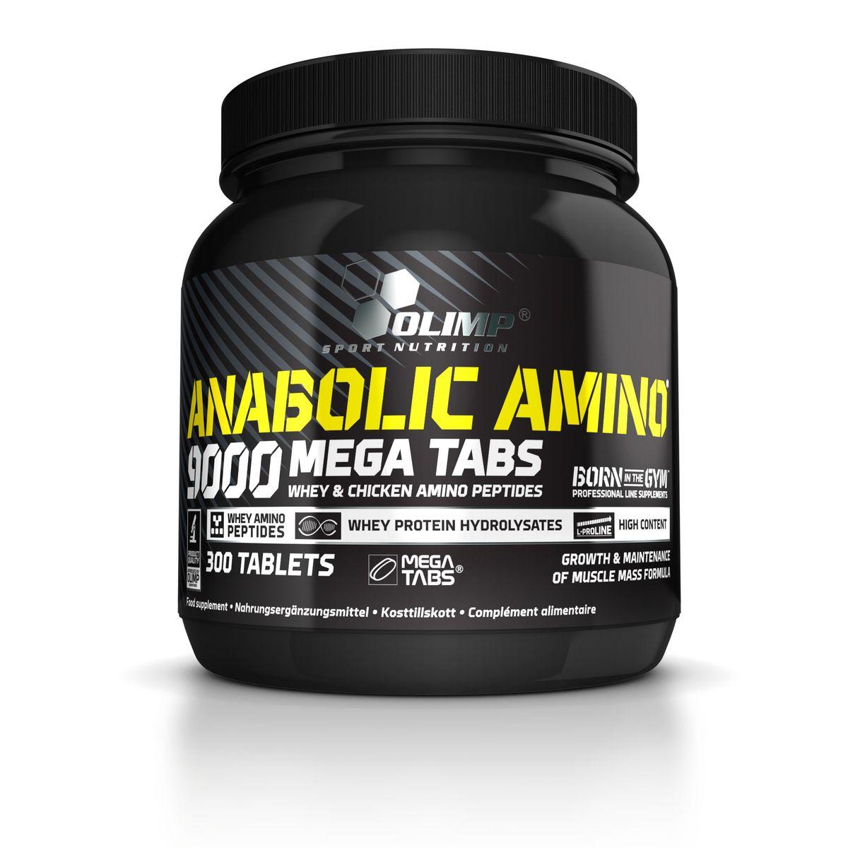 Аминокислотный комплекс Olimp Sport Nutrition Anabolic Amino 9000 Mega Tabs, 300 таблеток00559Olimp Sport Nutrition Anabolic Amino 9000 Mega Tabs - это комплекс аминокислот, в котором используются высочайшего класса гидролизаты белков животного происхождения двух типов - сывороточного белка и яичного белка. Эта комбинация обеспечивает аминокислотный профиль, который никогда ранее не встречался в добавках на основе гидролизата белка. Использование гидролизованного яичного белка увеличивает концентрацию некоторых аминокислот в несколько раз, а именно: содержание глицина в 6 раз, L-аргинин в 2 раза, L-пролин в 1,8 и L-аланин в 1,4. Глицин принимает участие в передаче импульсов в ЦНС, являясь нейротрансмиттером (активатором NMDA рецепторов), а также является основой для синтеза нуклеиновых кислот (которые необходимы для синтеза белка) и способствует нормализации кроветворного процесса. L-аланин, в дополнение к своей функции синтеза структурного белка, используется печенью для синтеза глюкозы, что позволяет защитить мышцы от катаболизма во время нагрузок (в случае приема перед тренировкой) и способствует быстрому пополнению энергетических запасов и синтезу протеина (в случае приема после тренировки). Более высокое содержание в составе L-аргинина, в сравнении с обычным (имеющимся в настоящее время на рынке) гидролизатом протеина, вызывает увеличение синтеза окиси азота, способствующего улучшению циркуляции крови в мышцах и повышении снабжения их питательными веществами.В дополнение ко всему, повышенное содержание аргинина стимулирует выработку гормона роста, что особенно важно для эффективного после тренировочного восстановления. Также важное значение имеет и то обстоятельство, что L-аргинин, являясь щелочной аминокислотой, играет важную роль в поддержании кислотно-щелочного баланса организма, состояние которого подвергается существенным колебаниям во время интенсивных силовых тренировок. Именно поэтому высокое содержание L-аргинина в составе Anabolic Amino 9000 имеет так