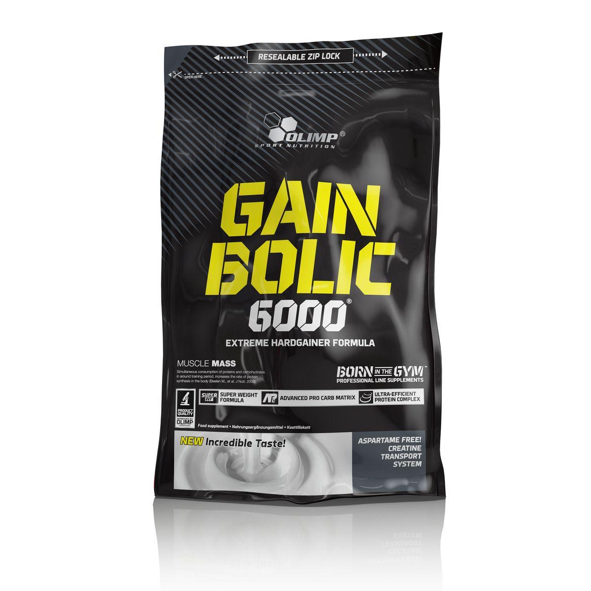 Гейнер Olimp Sport Nutrition Gain Bolic 6000, шоколад, 1 кгO27802Olimp Sport Nutrition Gain Bolic 6000 - это очень высококачественный продукт, для быстрого набора мышечной массы, особенно для людей, устойчивых к приобретению новой мышечной массы. Обеспечивает всеми питательными веществами, важными для быстрого развития мускульной силы и массы. Комплекс углеводов в Olimp Sport Nutrition Gain Bolic 6000 надлежащим образом составлен с различными гликимическими индексами, сывороточным белковым концентратом, казеином, яичным белком, обогащенный моногидратом креатина и таурином. Добавление креатина, декстроза и таурина, в определенном порядке и дозировке ускоряет и повышает активность анаболических процессов.Рекомендации по применению: 1-3 порции в день - между приемами пищи. Рекомендации по приготовлению: 100 г порошка растворите в 120 мл питьевой воды. Начинающим рекомендуется смешивать 50 г продукта с тем же количеством воды.Состав: мальтодекстрины, декстроза, концентрат сывороточного протеина, казеинат кальция, яичный белок ультрафильтрации, кофеин, креатин моногидрат, таурин, регулятор кислотности, хлорид калия, витамины, никотиновая кислота, биотин, кальций, фолиевая кислота, ароматизатор,краситель. Товар сертифицирован.Как повысить эффективность тренировок с помощью спортивного питания? Статья OZON Гид
