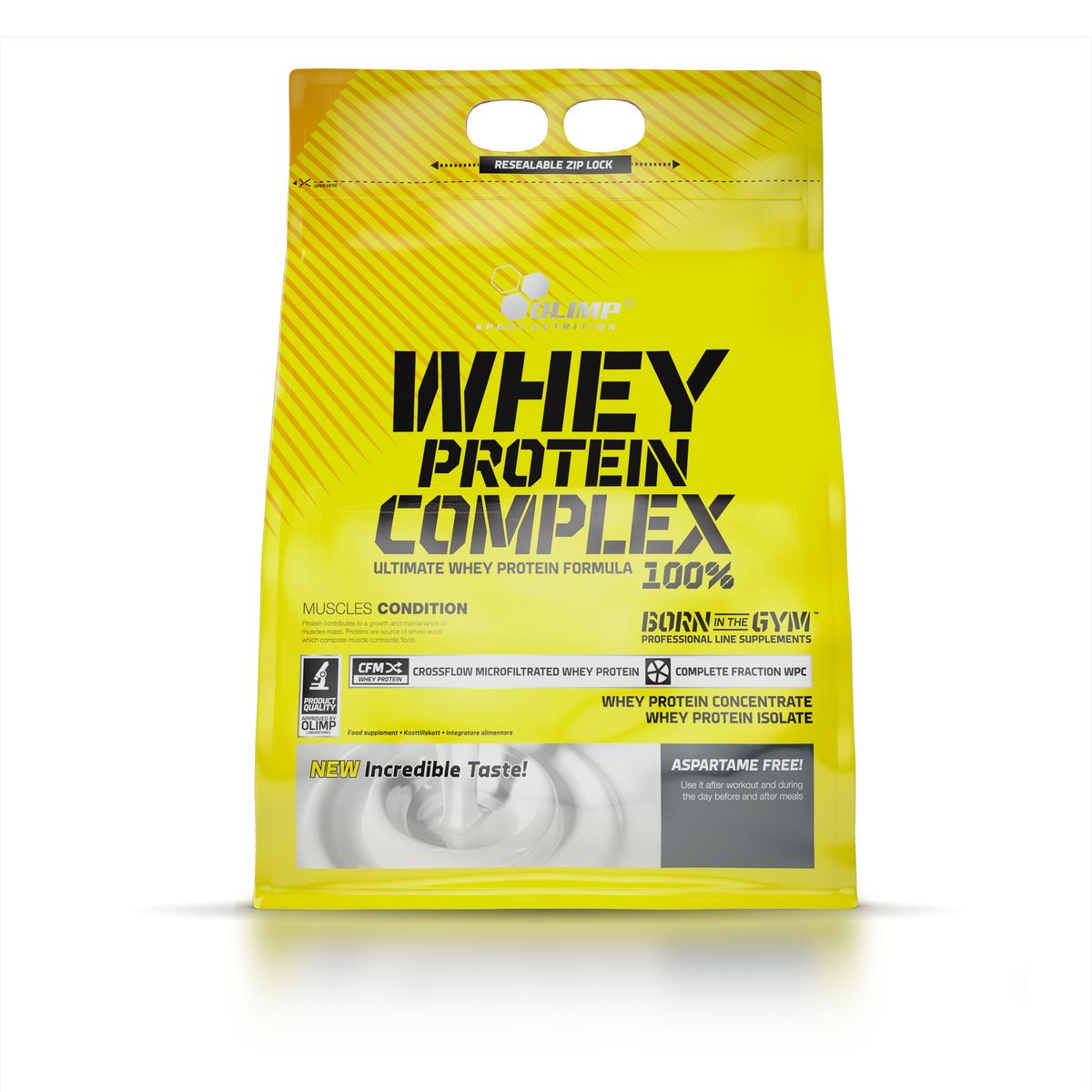 Протеин Olimp Sport Nutrition Whey Protein Complex 100%, клубника, 2,3 кг 6 bottle 600pcs muscle gainer fast build muscle whey protein complex add weight nutrition supplement fitness free shipping