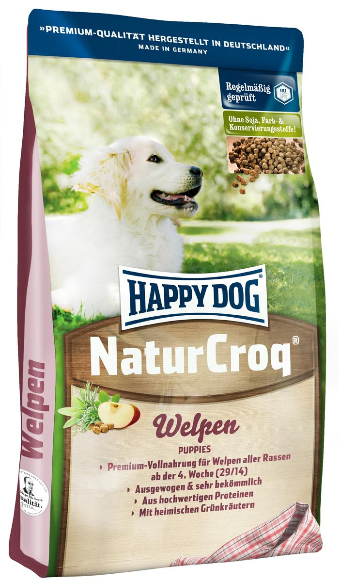 Корм сухой Happy Dog Natur Croq. Welpen для щенков, 4 кг мука цельнозерновая пшеничная с пудовъ 1 кг