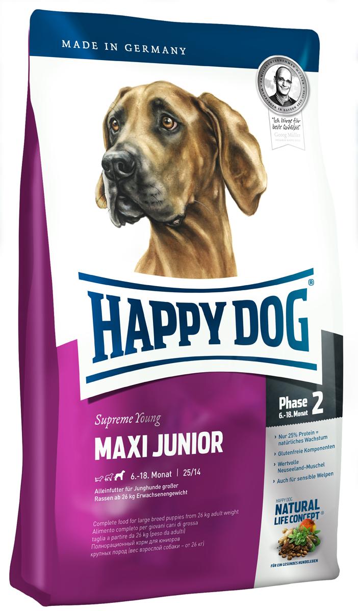 Корм сухой Happy Dog Junior для щенков крупных пород, с 6 до 18 месяцев, 15 кг3429Happy Dog Junior - полнорациональный корм для щенков крупных пород. Слишком быстрый рост - часто наблюдаемая проблема молодых собак крупных пород. Одобренная ветеринарными врачами рецептура корма со сниженным содержанием протеина - всего 25% предотвращает избыточное кормление юниоров во второй фазе роста. Корм содержит мясо птицы, лосося, а также ценного новозеландского моллюска. Этот сухой корм оптимально подходит для беспроблемного и щадящего кормления юниоров крупных пород (вес взрослой собаки 26 кг), в том числе чувствительных к кормам, с 6 месяца (после окончания смены зубов). Состав: птица (23%), кукурузная мука, кукуруза, рисовая мука, птичий жир, лосось (5%), картофель, клетчатка, свекольная пульпа, масло из семян подсолнечника, яблочная пульпа, сухое цельное яйцо, хлорид натрия, дрожжи, хлорид калия, рапсовое масло, морские водоросли (0,15%), льняное семя (0,15%), дрожжи (экстрагированные), расторопша, артишок, одуванчик, имбирь, березовый лист, крапива, ромашка, кориандр, розмарин, шалфей, корень солодки, тимьян, мясо моллюсков (0,01%), (Общий объем сухих трав: 0,14%).Аналитический состав: сырой протеин 25%, сырой жир 14%, сырая клетчатка 3%, сырая зола 6%, кальций 1,3%, фосфор 0,9%, натрий 0,4%, Омега-6 жирные кислоты 2,8%, Омега-3 жирные кислоты 0,35%.Витамины/кг: витамин A 12000 М.E., витамин D3 1200 М.E., витамин Е 75 мг, витамин В1 4 мг, витамин В6 6 мг, биотин 4 мг, кальция D- пантотенат 575 мкг, ниацин 10 мг, витамин В12 40 мг, холинхлорид. Микроэлементы/кг: железо 70 мкг, медь 60 мг, цинк 105 мг, марганец 10 мг, йод 125 мг, селен 25 мг.Товар сертифицирован.