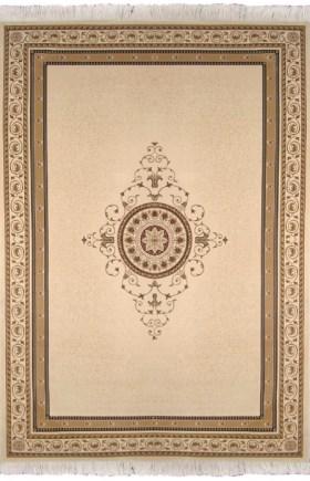 Ковер Oriental Weavers Кастл, цвет: светло-коричневый, 120 х 180 см. 92 W12037Традиционные дизайны из Персии и Ирана на ковре высокой плотности подчеркнут изысканность и строгость любого классического интерьера.