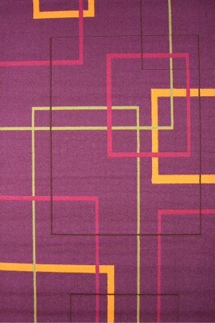 Коврик прикроватный Oriental Weavers Дaзл, цвет: фиолетовый, 67 х 120 см. 662 M