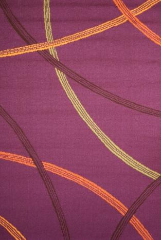 Коврик прикроватный Oriental Weavers Дaзл, цвет: фиолетовый, 67 х 120 см. 730 M