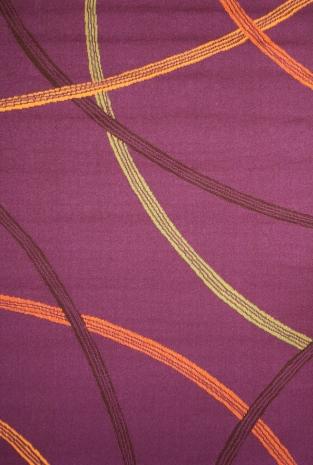 Коврик прикроватный Oriental Weavers Дaзл, цвет: фиолетовый, 67 х 120 см. 809 S