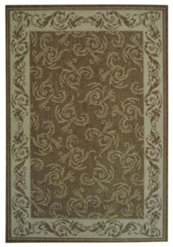 Коврик прикроватный Oriental Weavers Давн, цвет: коричневый, 80 х 160 см. 602 N16807Циновка из полипропилена - удобно, практично, современно. Оригинальный ковер от известной Египетской фабрики Oriental Weavers подойдет для современных и классических интерьеров.