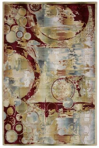Ковер Oriental Weavers Симфония, цвет: коричнево-красный, 120 х 180 см. 9 X18569Современный дизайн в необычной цветовой гамме, сочетающийся в ковре бренда Oriental Weavers,подойдет как для креативного, так и для строгого интерьера.