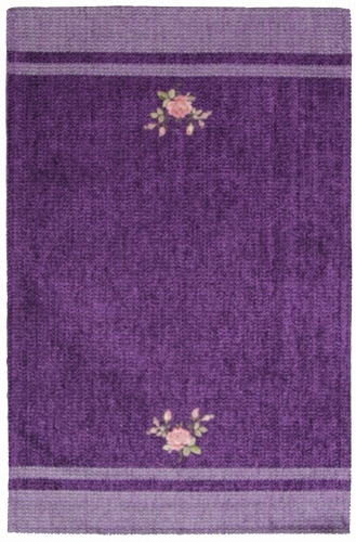 Коврик прикроватный Oriental Weavers Милано, цвет: фиолетовый, 55 х 85 см. 9 M289Приятный на ощупь и стильный коврик из шинилла и вискозы на основе из латекса подходит как для спальни, так и для гостиной.