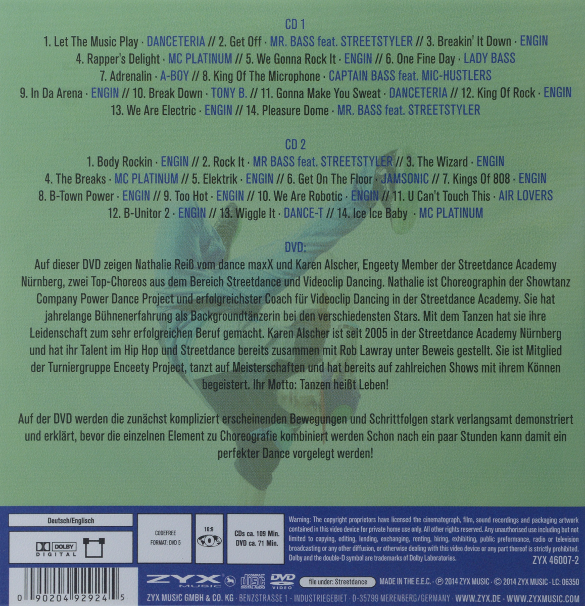 Let's Dance.  Streetdance (2 CD + DVD) Волтэкс-инвест,ZYX Music