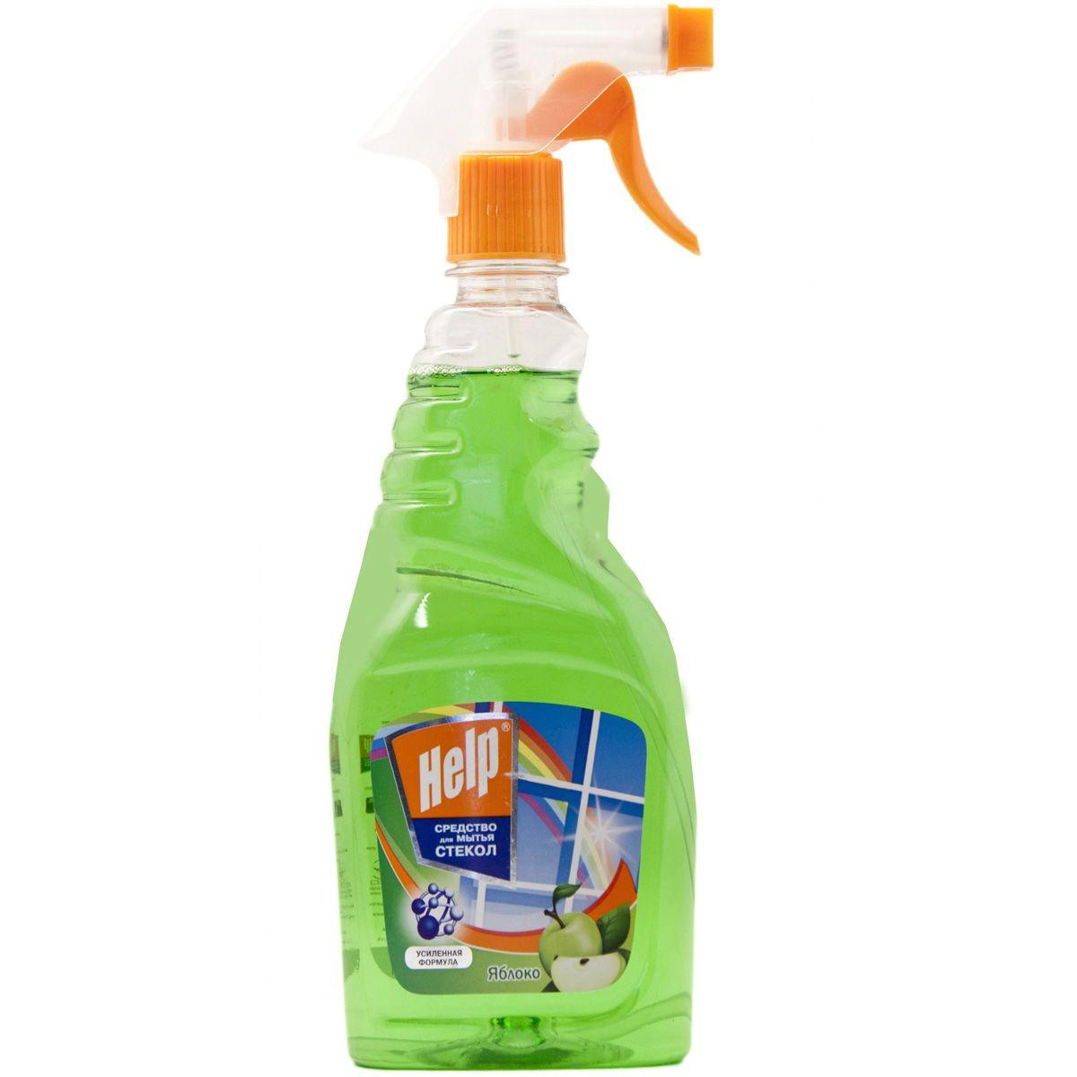 Средство для мытья стекол Help Яблоко, 750 мл4605845000718Средство для мытья стекол Help Яблоко- это эффективное средство для мытья стекол, окон, зеркал. Удаляет пятна. Смывает грязь, следы от пальцев.Защищает от пыли и придает блеск. Не оставляет разводов.